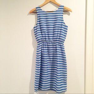 J Crew factory blue white striped sundress 00 XXS